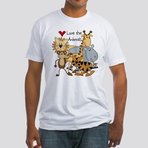 Love the Animals Fitted T-Shirt