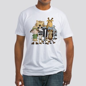 Girl on Safari Fitted T-Shirt