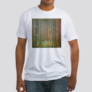 Gustav Klimt Pine Forest Fitted T-Shirt