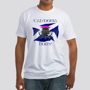 Scotland Caledonia Home Flag Fitted T-Shirt
