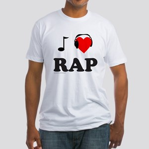 RAP MUSIC Fitted T-Shirt