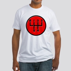 Stick shift Fitted T-Shirt