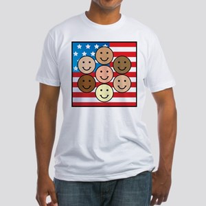America People of Many Colors Fitted T-Shirt