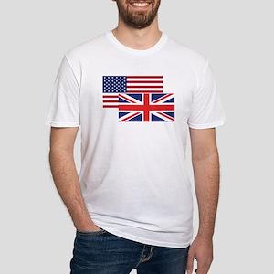 951fd871 American And British Flag T-Shirt