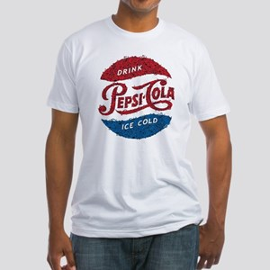 Pepsi Logo Doodle Fitted T-Shirt