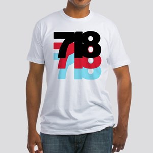 718 Area Code Fitted T-Shirt