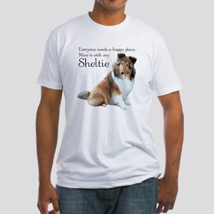 Happy Place Sheltie Fitted T-Shirt