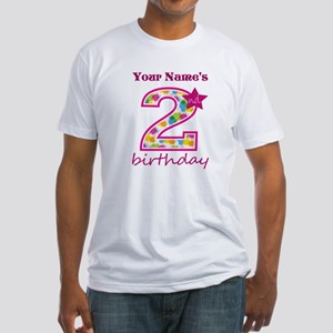 2nd Birthday Splat - Personalized Fitted T-Shirt