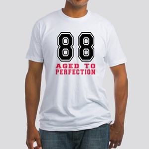 88 Aged To Perfection Birthday Desi Fitted T-Shirt