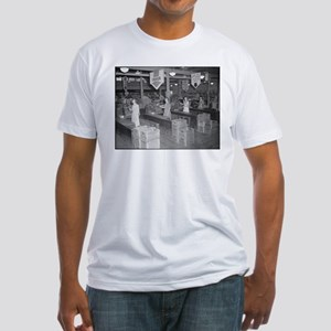 Retro Grocery Cashiers Fitted T-Shirt