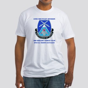 3rd BCT - Special Troops Bn with Text Fitted T-Shi