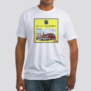 """""""1946 Pontiac Ad"""" Fitted T-Shirt"""