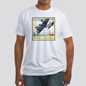 """""""Flying Fortress Engines Ad"""" Fitted T-Shirt"""