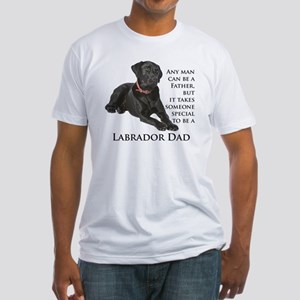 Black Lab Dad Fitted T-Shirt