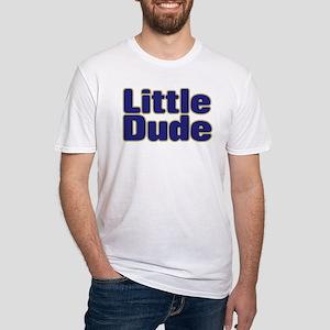 LITTLE DUDE (dark blue) Fitted T-Shirt