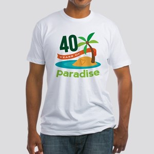 40th Anniversary (Tropical) Fitted T-Shirt