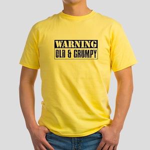 Warning Old And Grumpy Yellow T-Shirt