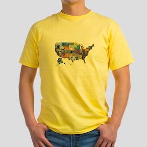 america license Yellow T-Shirt