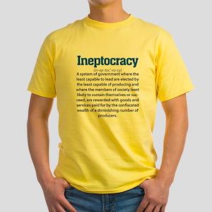 Ineptocracy Yellow T-Shirt