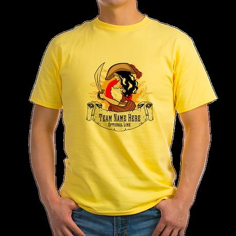 Pirate Logo To Go Yellow T-Shirt