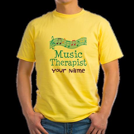 Personalized Music Therapist Yellow T-Shirt