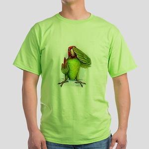 parrot Green T-Shirt , macaw,amazon