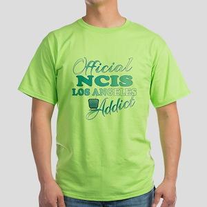 Official NCIS LA Addict  Green T-Shirt
