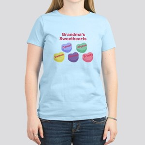 Custom Grand kids sweethearts Women's Light T-Shir