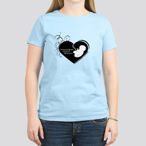 Where Love Begins Pro Life Women's Light T-Shirt