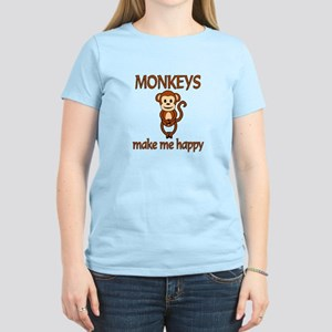Monkey Happy Women's Light T-Shirt