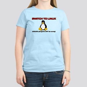 Switch to Linux Women's Pink T-Shirt
