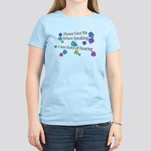 Hard of Hearing Flowers T-Shirt
