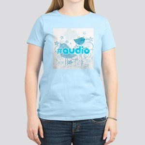 Audio-hash-tag-distressed Women's Light T-Shirt
