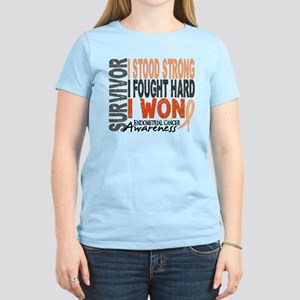 Survivor 4 Endometrial Cancer Shirts and Gifts Wom