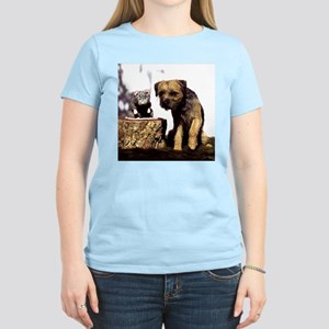 Border Terrier and Rat Women's Light T-Shirt