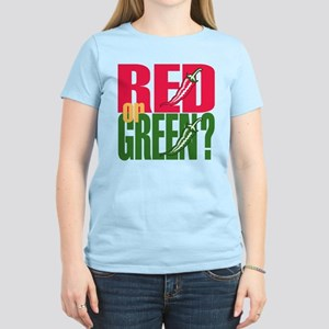 Red or Green? Women's Light T-Shirt
