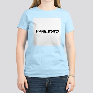 Privileged Women's Pink T-Shirt