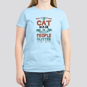 Cat Hair Is Lonely People Glitter T Shirts Cafepress