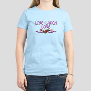 Live Laugh Love Women's Light T-Shirt