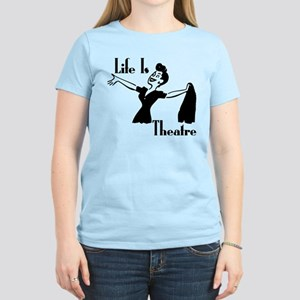 Life Is Theatre Retro Theater Women's Light T-Shir