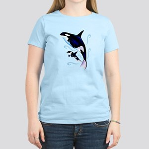 Orca Mom and Baby Women's Light T-Shirt