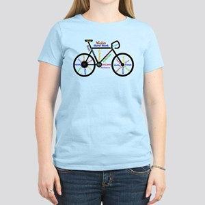 e9212b4df Bike made up of words to motivate T-Shirt