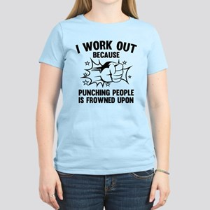I Work Out Women's Light T-Shirt