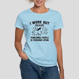 I Work Out Women's Light T-Shirt