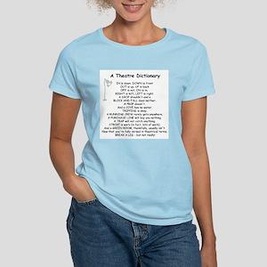 A Theatre Dictionary Women's Light T-Shirt