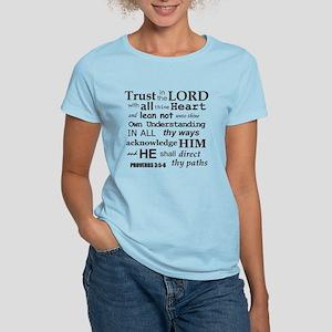 Proverbs 3:5-6 KJV Dark Gray Print Women's Light T