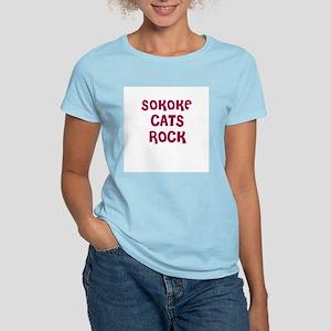 SOKOKE CATS ROCK Women's Pink T-Shirt