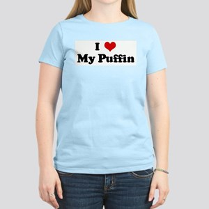 I Love My Puffin Women's Light T-Shirt