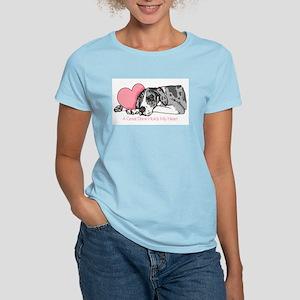 MerleB UC Holds Heart Women's Light T-Shirt