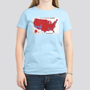 Trump vs Clinton Map Women's Light T-Shirt